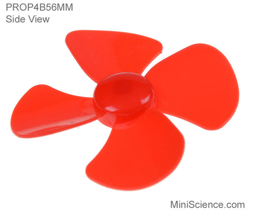 Side view of 4-Blade 56-mm Propeller for 2-mm shaft,