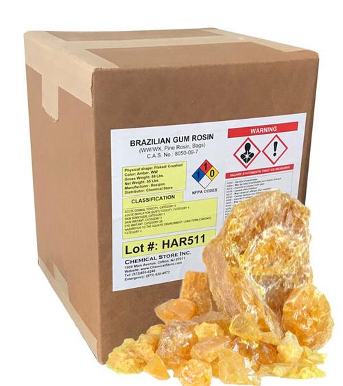 Brazilian Gum Rosin (Pine Rosin) grade WX in 55-lb boxes