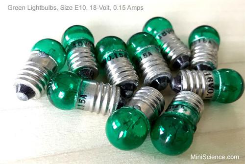 Green color miniature light bulb
