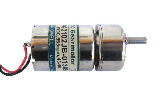 DC Gear motor with off-center shaft