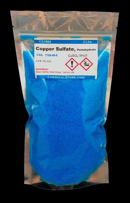 Copper Sulfate in 2-lb bags.