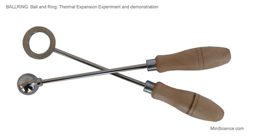 Ball and Ring set for thermal expansion demonstration and experiments