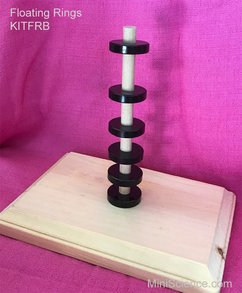 Although the magnets are not touching each other, the weight of magnets near the top of the stack are pushing the lower magnets towards each other.