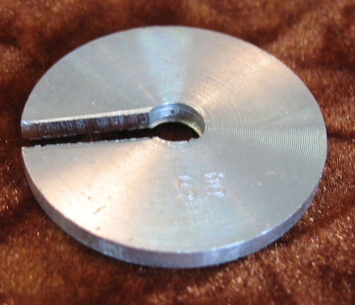 Slotted mass, Slotted weight, 5-gram, made of Aluminum, for brass hanger