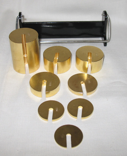 Slotted Weights Set of 8, for Aluminum weight hangers