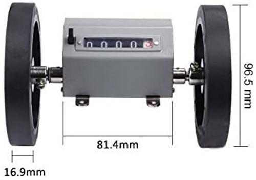 Yard Counter, textile length measuring counter with two wheels