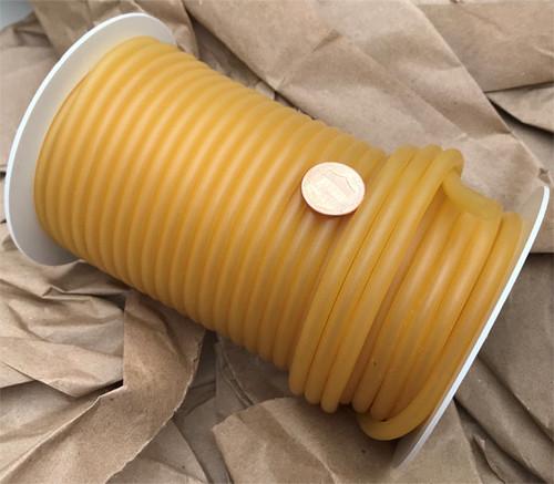 """Rubber Tubing Natural Amber 1/8"""" ID, Thin wall (3/64"""")"""