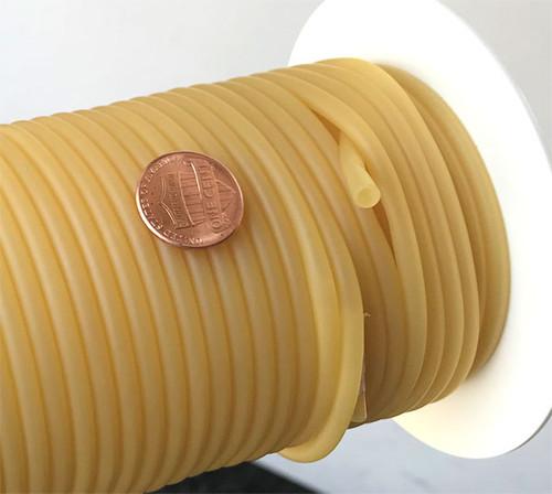 "Rubber Tubing Natural Amber 1/8"" ID, Super Thin wall (1/32"")"