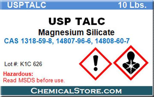 USP TALC, TALCUM POWDER USP GRADE 5-Micron, 10-Lb pail