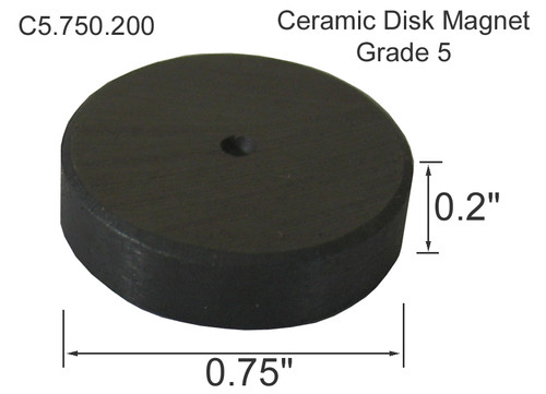 Ceramic Disk Magnet, 3/4 inch diameter, Wholesale