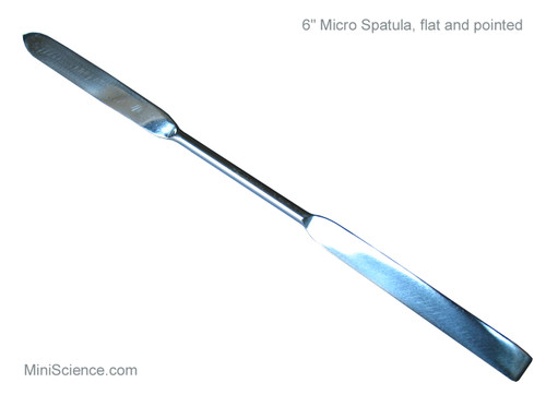 Micro spatula with one flat and one pointed ends