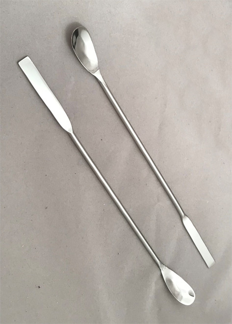 Double Ended long spatula with one flat and one spoon end