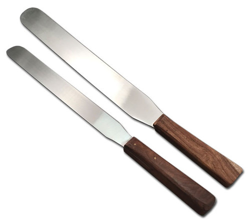 """Spatula with Wooden Handle and 8"""" stainless steel blade"""