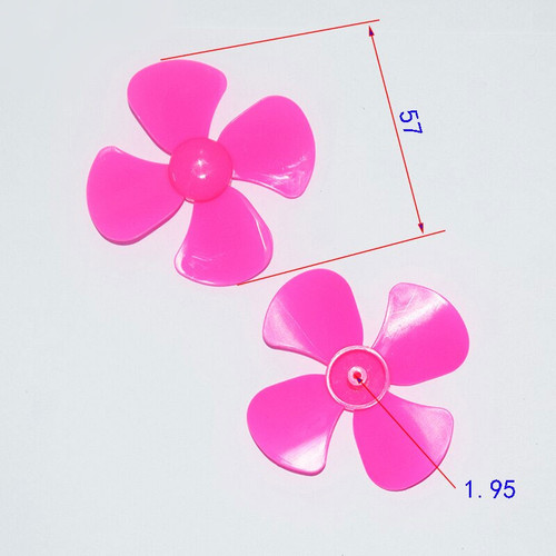 Four blade pink propellers