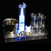 Premium Bottle Service Trays With Bottle Lock