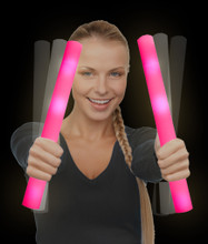 LED Foam Stick Baton - Pink