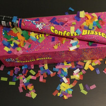 handheld confetti cannon 24 inch multi color