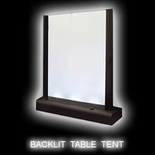 LED Backlit Table Tent