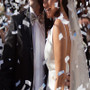 Wedding confetti cannon used in wedding exit
