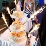 Sparklers for your wedding cake