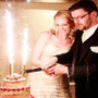 Stunning sparklers for your cake in wedding