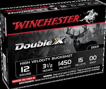 "Winchester Double-X 12ga 00 Buck 3.5"" 15 Pellets 5rd"
