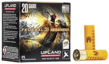 "Federal Premium Upland High Velocity 20ga 2.75"" 1oz #6 Copper Plated"