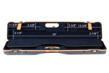 Negrini OU/SXS Deluxe Ultra-Compact Sporter Shotgun Case – 16407LX/5643