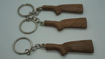 Turkish Walnut stock key chains- Grade 1