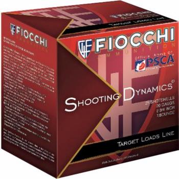 "Fiocchi Shooting Dynamics 20ga Target 20SD75 2-3/4"" 1210 fps #7.5 Lead Shot 7/8 oz-  1 Flat/5 Rds/Bx"