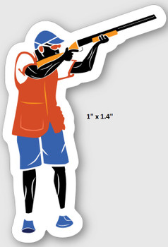 "Clay Shooters Vinyl Sticker- 1"" x 1.4"" - PACK OF 10"