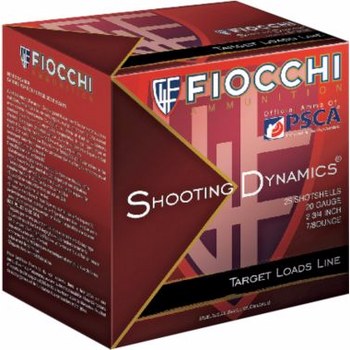 "Fiocchi Shooting Dynamics Clay Target Loads 12SD1H8  12ga 2-3/4""1200 fps 1oz #8 Lead Shot -1 Flat/25 Rds/Bx"