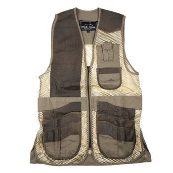 Wild Hare Range Vest Leather and Mesh -- Sage and Brown