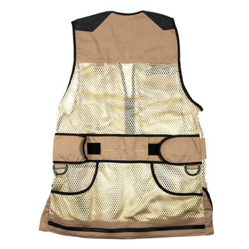 Wild Hare Range Vest Leather and Mesh -- Khaki and Black
