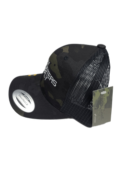 Clay Shooters Supply Flexfit Fan Trucker 14 - Black/Multicam - Adjustable /