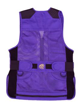 MizMac Womens Perfect Fit Mesh Vest - Genuine Leather Pad - Purple