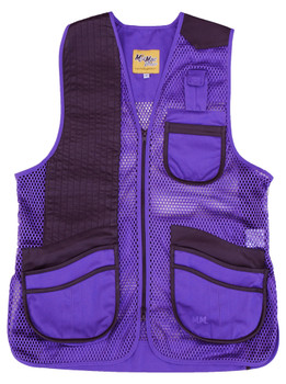 MizMac Womens Perfect Fit Mesh Vest - Genuine Leather Pad - Purple