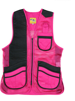 MizMac Womens Perfect Fit Mesh Vest - Genuine Leather Pad - Hot Pink