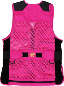 MizMac Womens Perfect Fit Mesh Vest - Genuine Leather Pad - Hot Pink