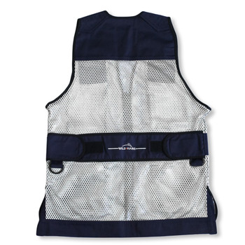Wild Hare Primer Mesh Vest, Navy/Silver - Ambidextrous Shooting Pad