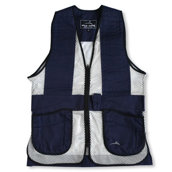 Wild Hare Primer Mesh Vest, Navy/Silver - Ambidextrous Shooting Pad - Youth Large