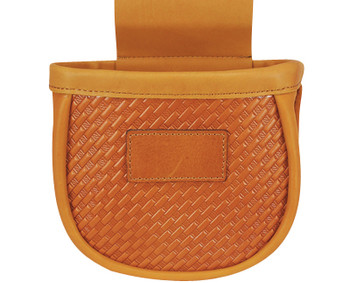 G*Outdoors GPS-L760-2 Double Shotgun Shell Pouch Basket Weave Leather - 50 Shells