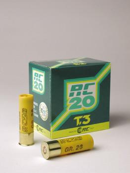 RC 20 T3 Trap/ Skeet 20ga. 1250FPS #8 Lead Shot- Flat (10 boxes)