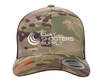Clay Shooters Supply Flexfit Fan Trucker 14 - Brown/Multicam - Adjustable /