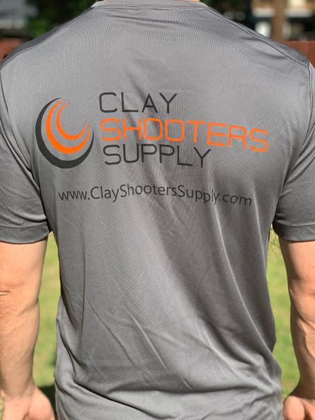 Clay Shooters Supply Sport Tek Athletic Shirt - Grey