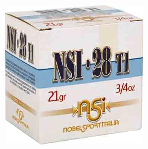 "NOBEL SPORT 28GA. 2.75"" 1300FPS. 3/4 OZ. #8 Shot Size - 1 Flat/10 Boxes 25 rounds"