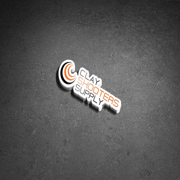 "Clay Shooters Supply vinyl sticker- 11"" x 3.3"""