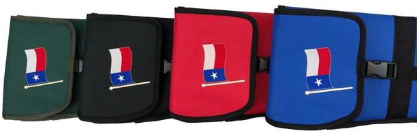 """Nylon Padded Shotgun Sleeve / Slip with Buckle Closure - TEXAS FLAG - 54"""" Length"""