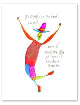 "Cowboy Opera Print, 8""x10"""