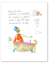 "Far Away Print (With Wine), 8""x10"""
